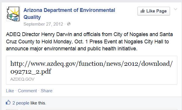 "ADEQ announces a ""major environmental and public health initiative"""
