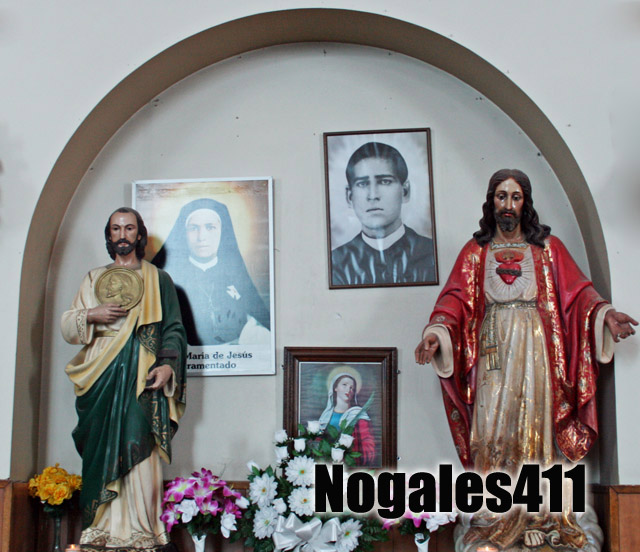 A photo of Padre Nacho still hangs in the Nogales church where he served